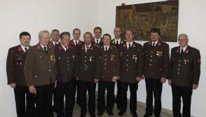Die geehrten Mitglieder der Bromberger Feuerwehren beim Abschnittsfeuerwehrtag