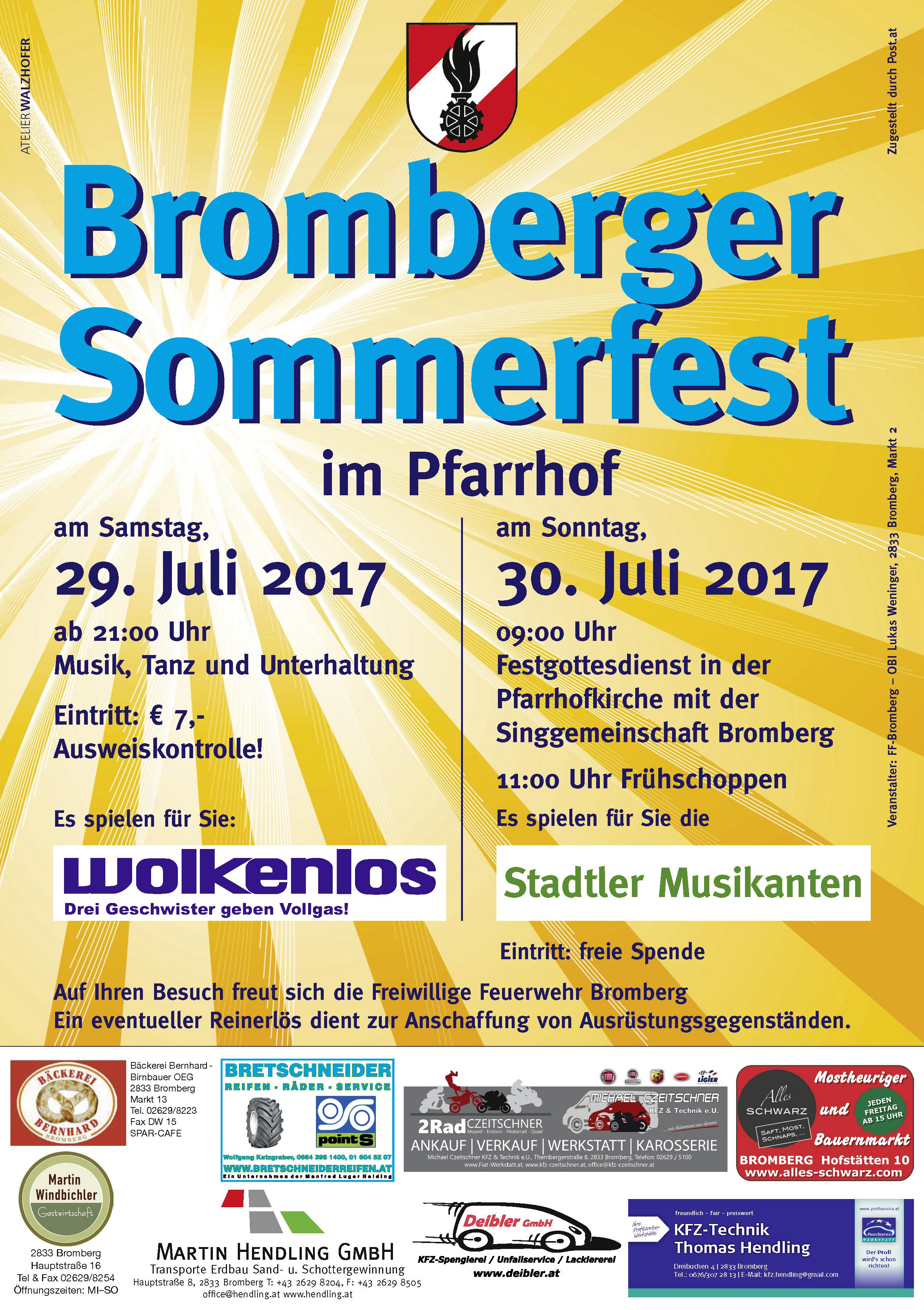 Plakat Sommerfest 2017