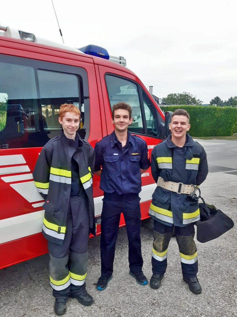 Abschluss Basisausbildung: Andreas Hendling, David Höller, Florian Weninger